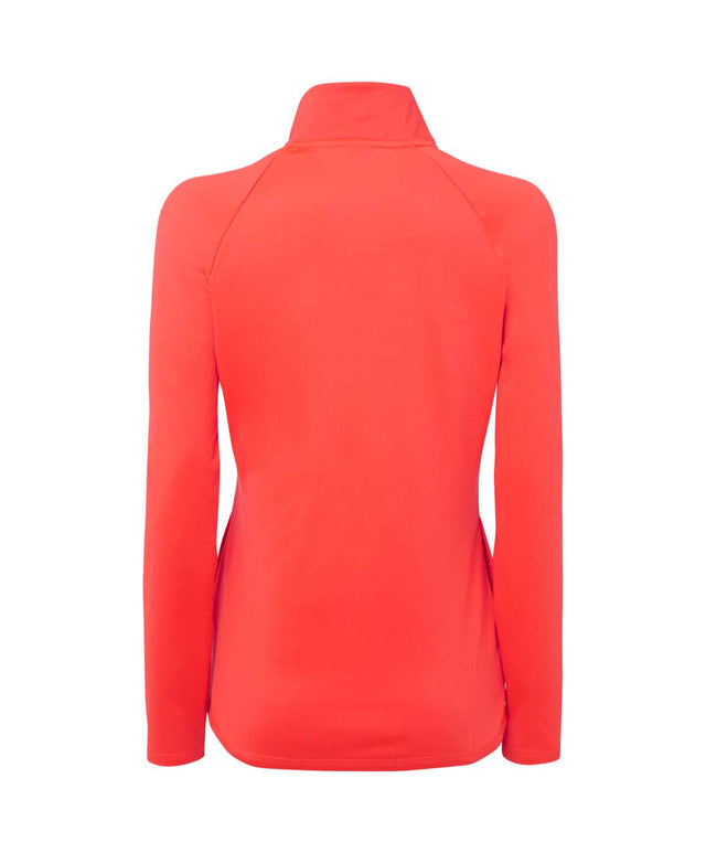 Womens Clime Snow Fleece - Neon Flame