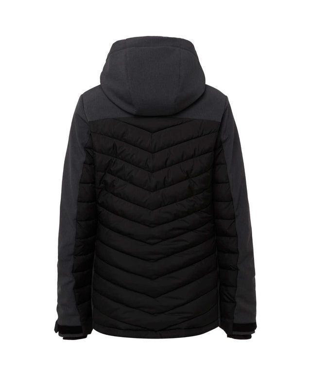 Womens Baffle Igneous Snow Jacket - Black Out