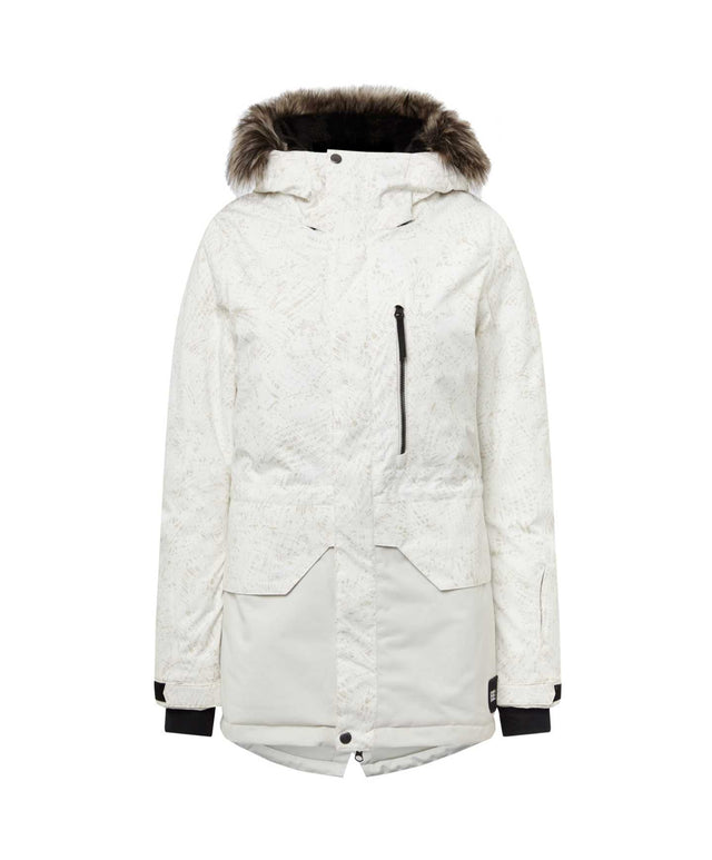 Womens Zeolite Snow Jacket - White AOP