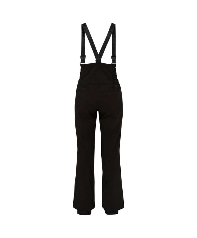 Womens High Waist Bib Snow Pant - Black Out