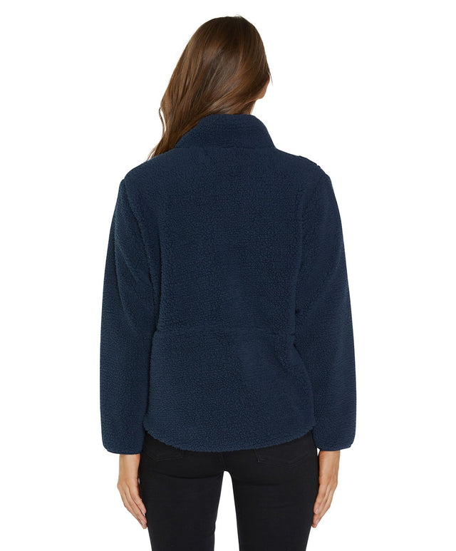 Sutton Zip Thru Fleece Jumper - Abyss