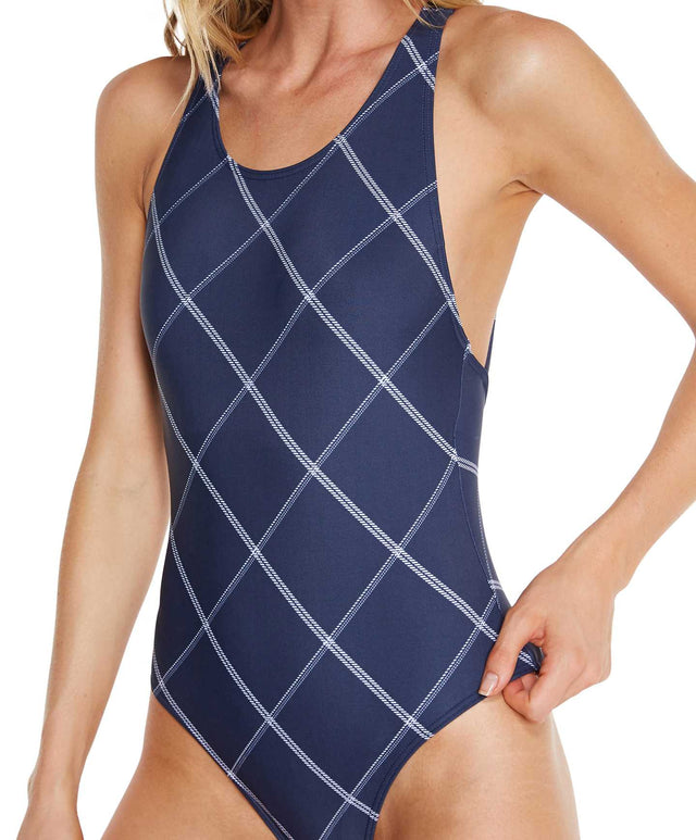 Isla One Piece Swimsuit - Navy Plaid