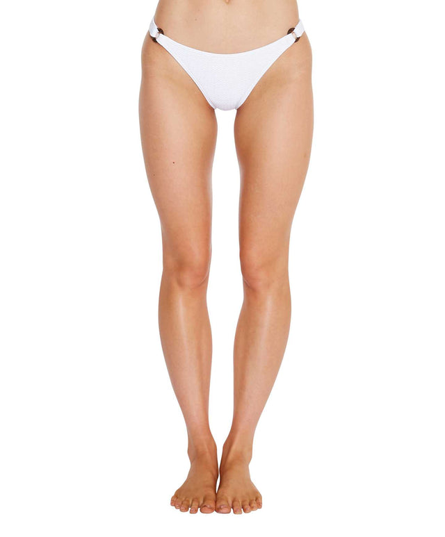 Locket Bikini Bottom - White