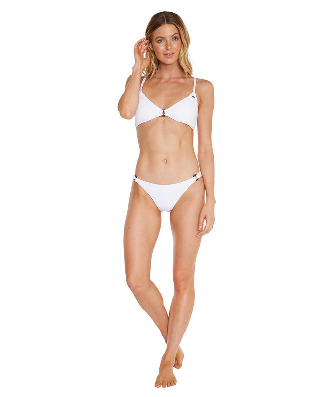 Locket Bikini Top - White