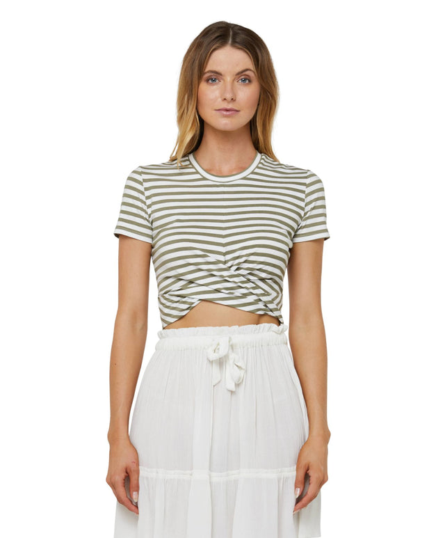 Embrace Stripe T-Shirt - Army Stripe