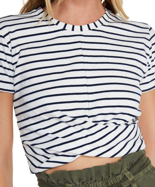 Embrace Stripe T-Shirtop T-Shirt - Navy Stripe