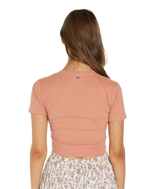 Embrace Short Sleeve Top - Tawny Orange