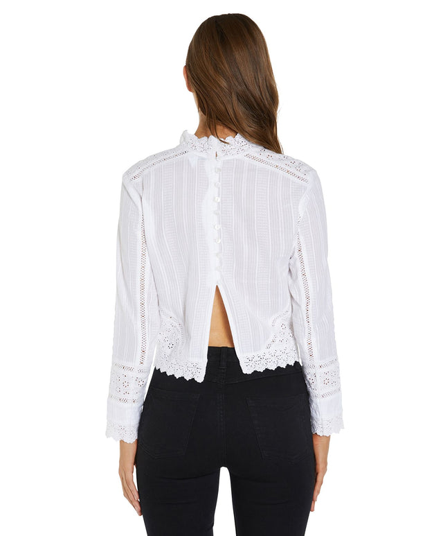 Mariana Long Sleeve Top - White