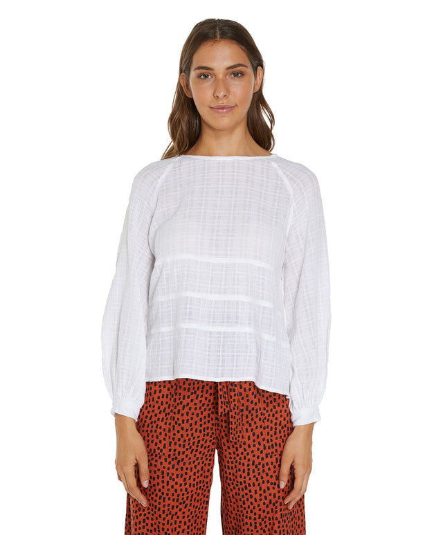 Templeton Long Sleeve Top - White
