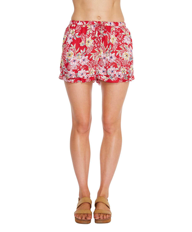 Freedom Shorts - Red Floral
