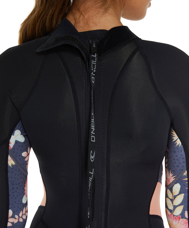 Bahia 2mm Long Sleeve Mid Springsuit Wetsuit - Black/Cactus