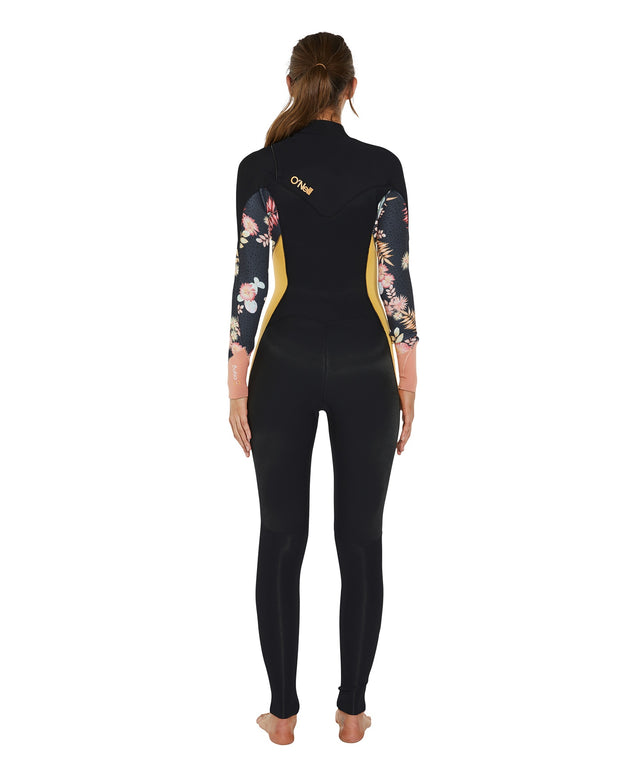 Bahia Chest Zip 3/2mm Womens Steamer Wetsuit - Black Cactus