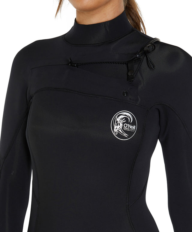 Bahia 4/3mm Womens Steamer Chest Zip Wetsuit - Black
