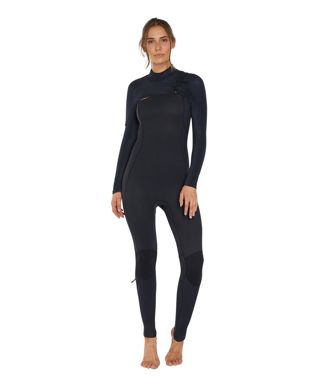 Hyperfreak 3/2+ Womens Steamer Chest Zip Wetsuit - Black
