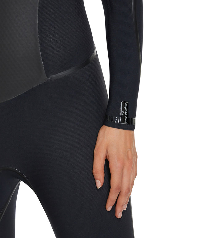 Psychotech Chest Zip 4/3mm Womens Steamer Wetsuit - Black/Eucalyptus