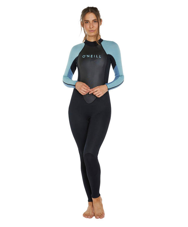 Reactor II 3/2mm Womens Steamer Wetsuit - Black/Blue