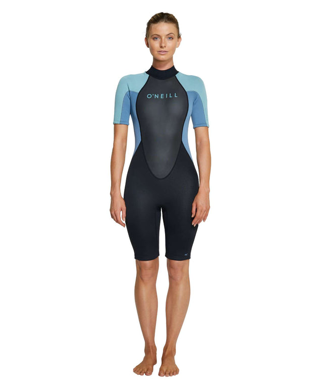 Womens Reactor II 2mm Spring Suit Wetsuit - Black / Blue