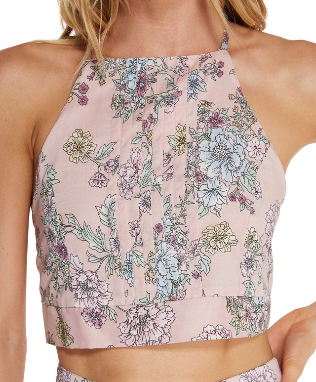 Morning Top - Blush Floral
