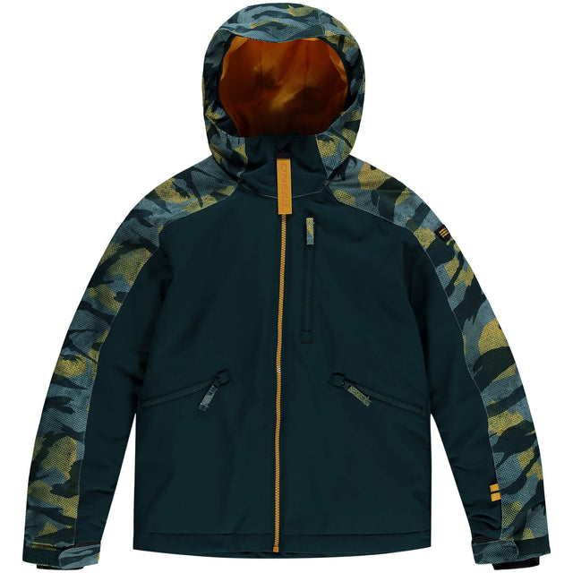 Boys Diabase Snow Jacket - Green AOP