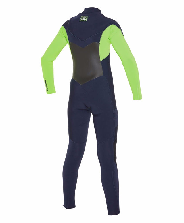 Kids Defender Fuze 3/2mm Steamer Wetsuit - Abyss/Dayglow