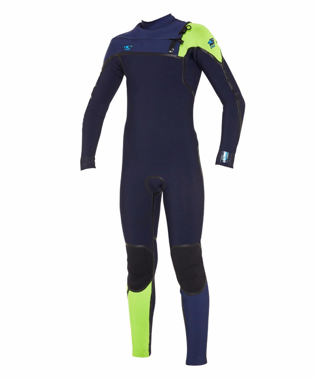 Boys Psycho 1 3/2mm Steamer Chest Zip Wetsuit - Jetcamo/Midnightoil