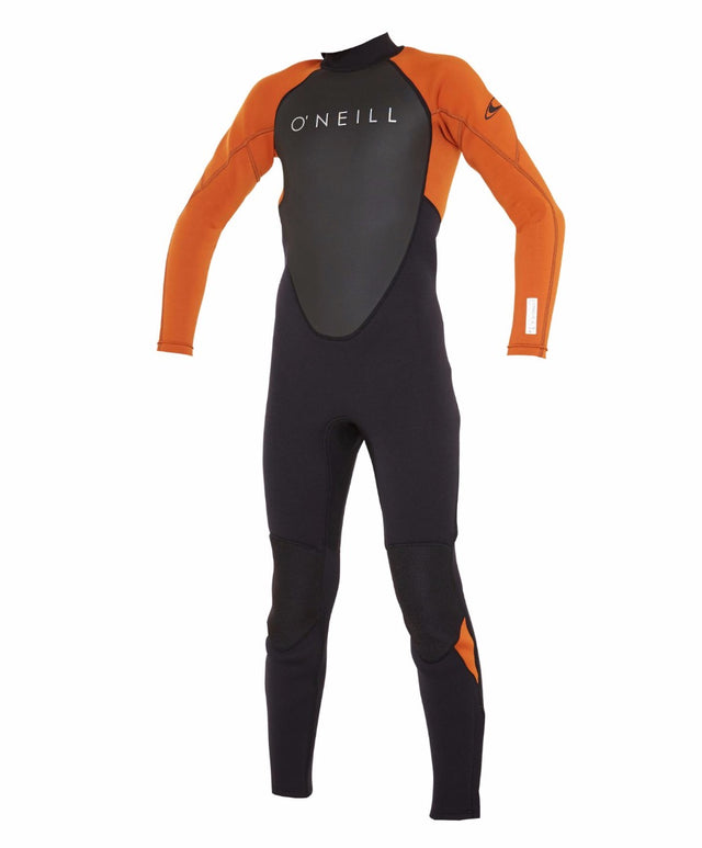 Boys Reactor II 3/2mm Steamer Wetsuit - Black/Brick