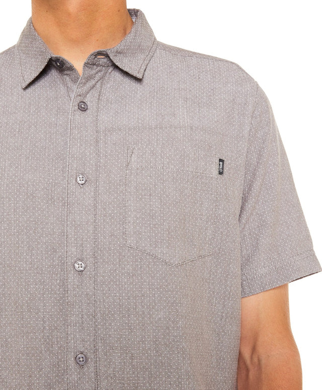 East Cliff Shirt - Grey/White