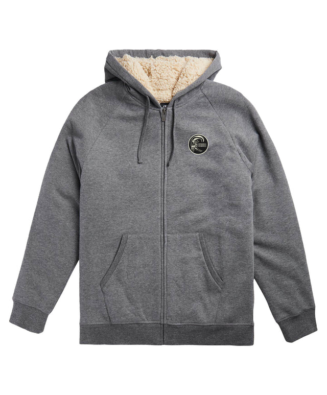 Fifty Two Sherpa Zip Hoodie - Heather Grey