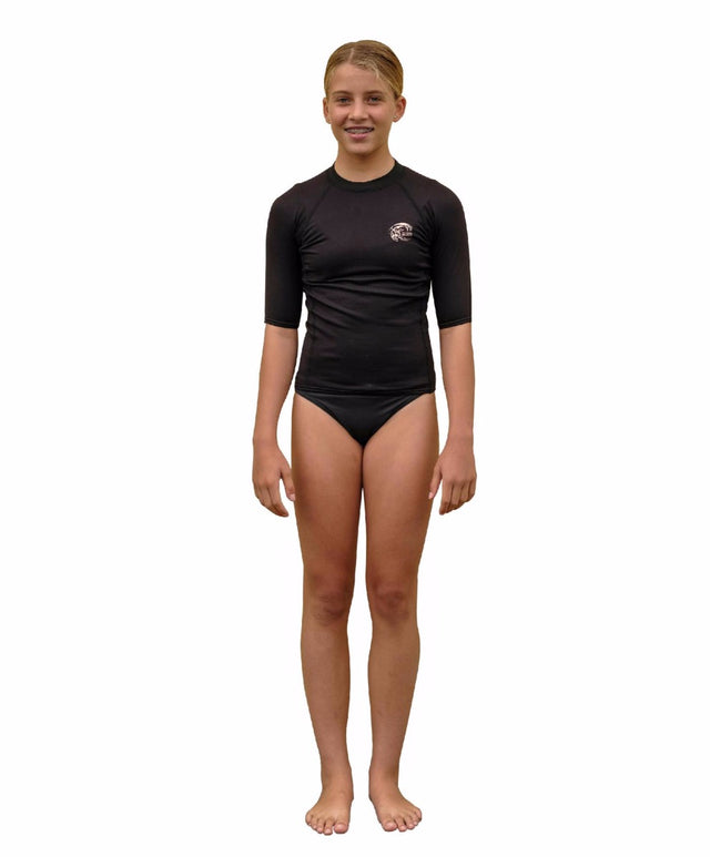 Girls Thermo Short Arm Crew - Black