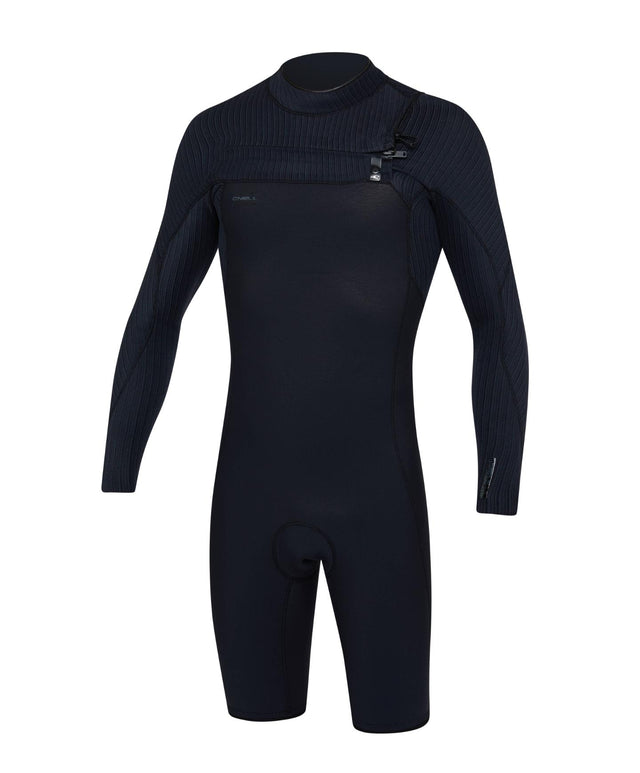 Hyperfreak 2mm Long Sleeve Springsuit Chest Zip Wetsuit - Black