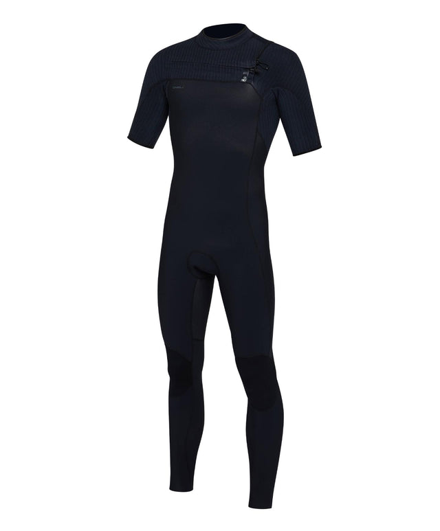 Hyperfreak 2mm Short Arm Steamer Chest Zip Wetsuit - Black