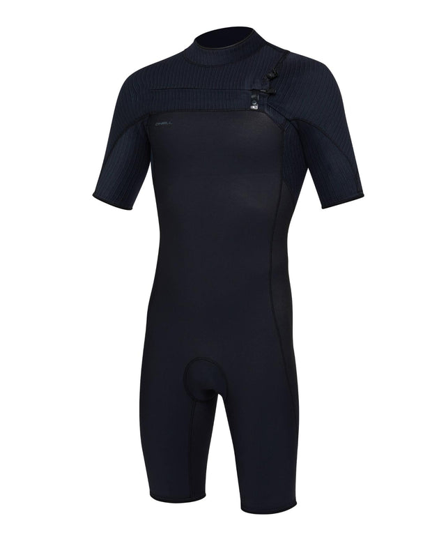 Hyperfreak 2mm Short Sleeve Springsuit Chest Zip Wetsuit - Black