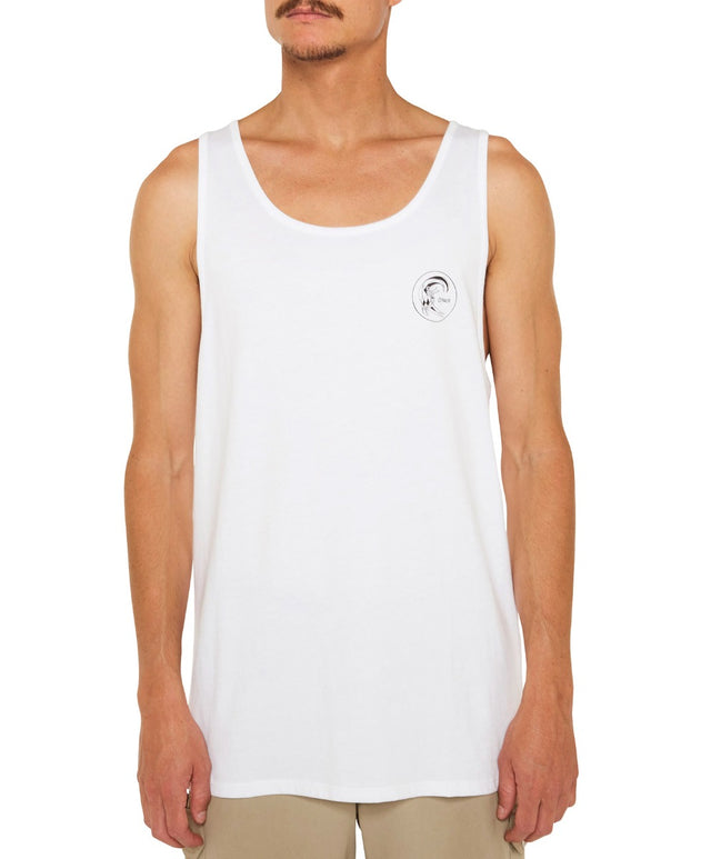 Jacks Base Tank - Super White