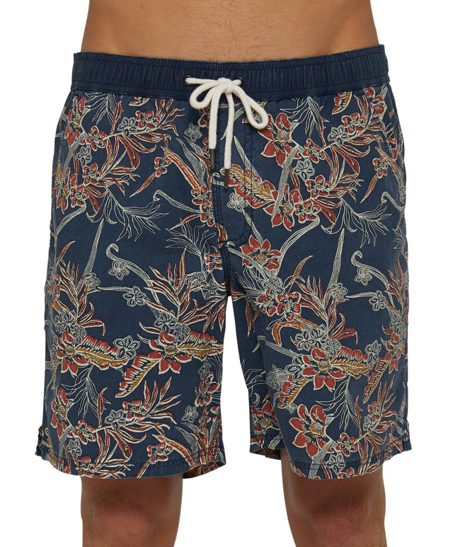 Latitude Slacker Shorts - Washed Navy