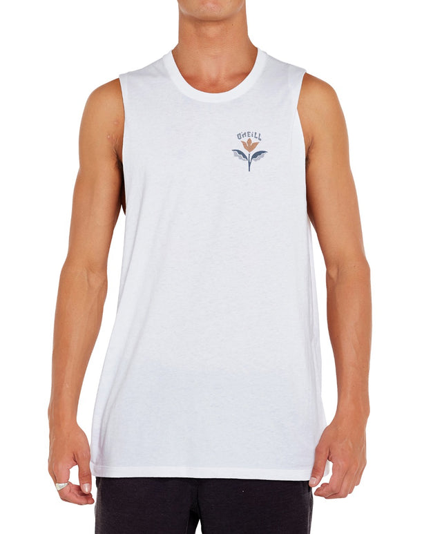 Totem Muscle Singlet - Super White