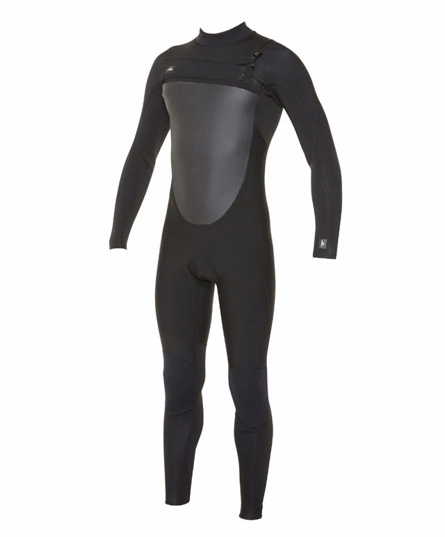 Defender 3/2mm Steamer Chest Zip Wetsuit - Black