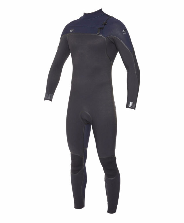 Psycho 1 3/2mm Steamer Chest Zip Wetsuit - Black/Abyss
