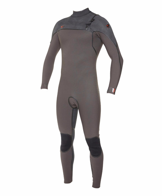 Psycho 1 3/2mm Steamer Chest Zip Wetsuit - Midnight Oil/Jet Camo