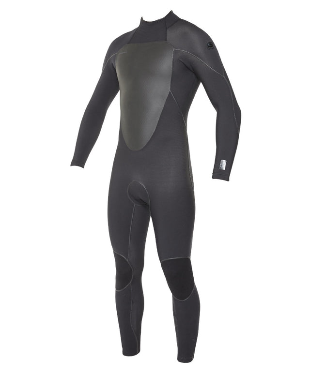 Psychofreak 3/2mm Steamer Back Zip Wetsuit - Black