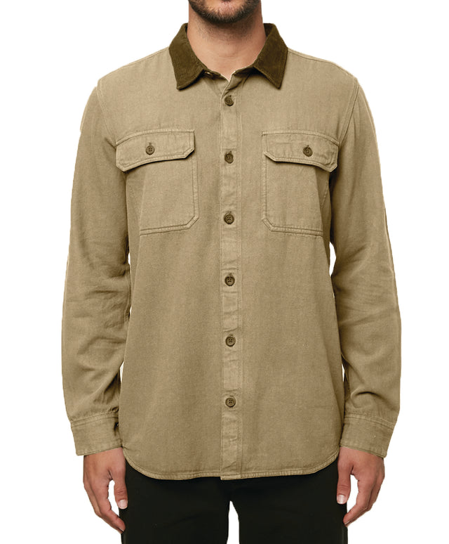 Mountaintop Overshirt - Khaki