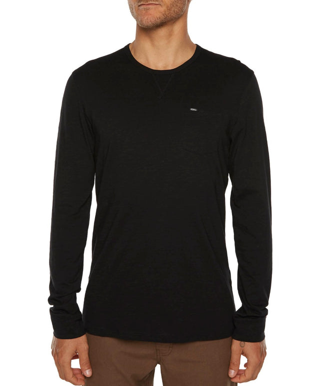 Jacks Base Long Sleeve T-Shirt - Black Out