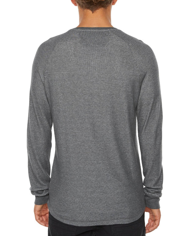 Nelson Henley Long Sleeve Knit - Asphalt