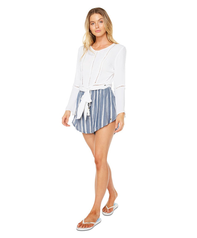 Melody Short - Navy Stripe