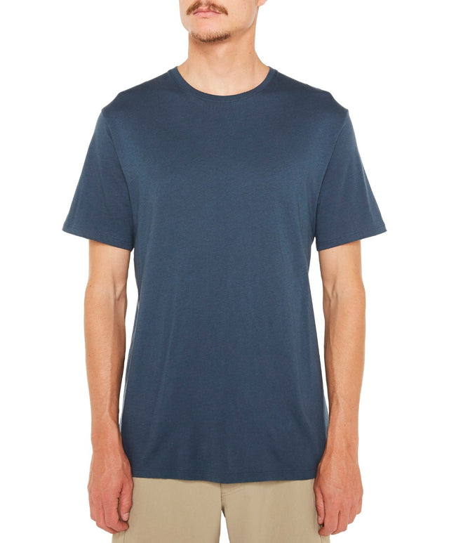 Jacks Base Plain Tee - Valley Blue