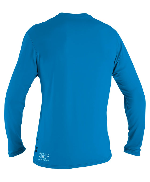 Boys Toddler Skins Long Sleeve Rashie Tee - Brite Blue