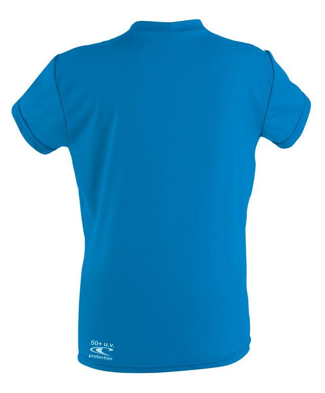 Boys Toddler Skins Short Sleeve Rashie Tee - Brite Blue