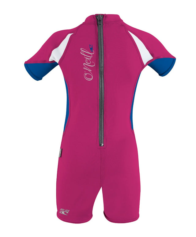 Girls Toddler Ozone UV Rash Vest Suit - Berry/Blue