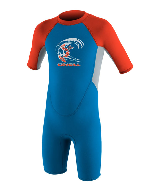 Reactor Toddler Springsuit Wetsuit - Blue/Grey/Red