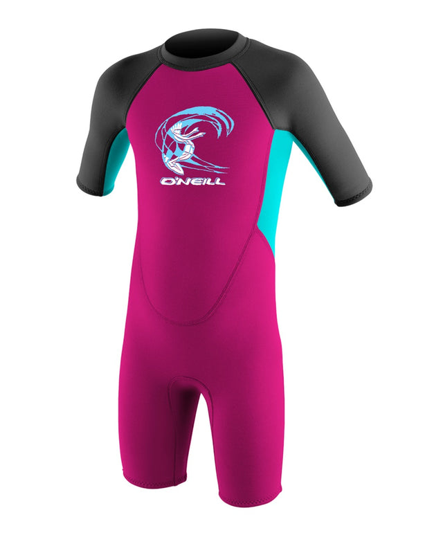 Reactor Toddler Spring Wetsuit - Berry/Aqua/Graphite