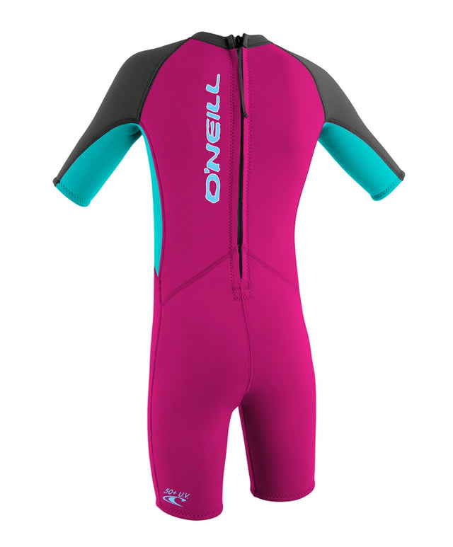 Reactor Toddler Springsuit Wetsuit - Berry/Aqua/Graphite
